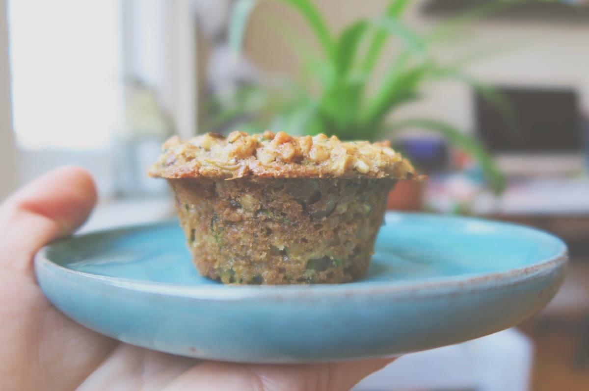 Muffins aux zucchinis et noix